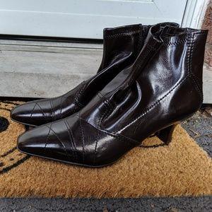 Franco Sarto - dark brown booties